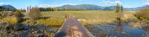 Fall photo, railroad bridge of Beaver Creek, Trout Creek, Montana